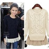 【韓系女衫】冬季女裝 針織衫 中長版毛衣