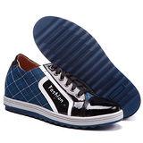 GOG高哥隱形增高鞋休閑系列73701流行彩拼板鞋增高6.5cm(2013-11)