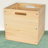 【LIFECODE】原木風黃松木收納箱/工具箱/格架專用配套箱