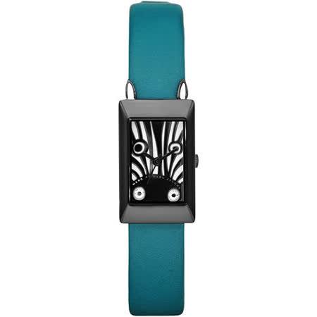 Marc Jacobs Critters 班馬趣味女錶-黑/綠 MBM2052