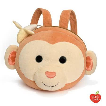 美國【Apple Park】有機棉玩偶造型背包 - 香蕉小猴
