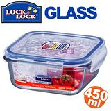 任選__樂扣樂扣微烤兩用玻璃保鮮盒-藍方型(LLG211)