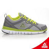 【PEAK 匹克】女運動常規慢跑鞋-淺灰/果綠 R1126203