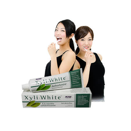 NOW健而婷─木糖醇潔白素食牙膏(181克/條)(效期至2017/03)