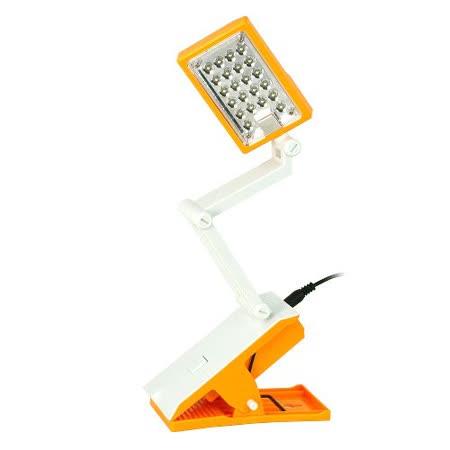 充電LED夾式折疊檯燈(UL-LED2201)-2入