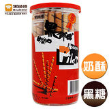 【黑師傅捲心酥】黑糖+奶酥口味各3罐,共6罐(200g/罐)