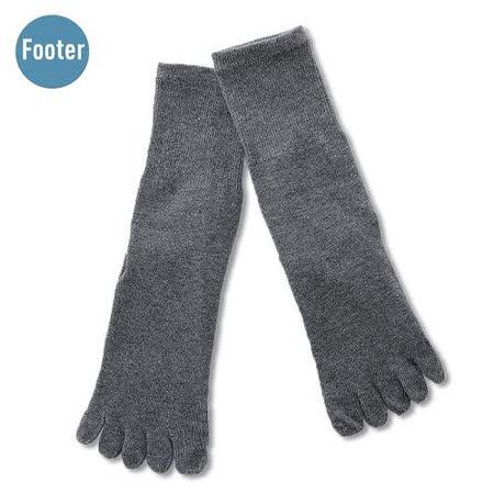 (任選)Footer健康除臭襪_MEN紳士素面五趾襪(F五趾襪-灰)