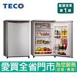 東元91L單門小冰箱R1061LA~A含配送到府+標準安裝