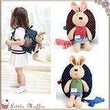 韓 winghouse 可愛兔子娃娃點點活動式立體後背包/小書包 附防走失帶