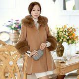 【韓系女衫】冬季新款 超大毛領 高貴大衣外套