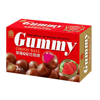 義美草莓QQ巧克球(量販盒)135g