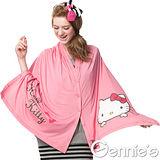 【Gennie's奇妮】Hello Kitty 多功能披肩式哺乳造型巾-粉(KX02)