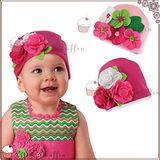 【Little Muffin小馬芬】手工大花朵寶寶帽2入