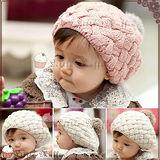 【Little Muffin小馬芬】韓版保暖寶寶貝雷帽/毛線帽2入