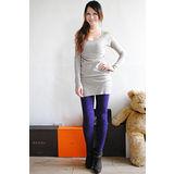 【ZARA】BSK 實搭款流行豹紋內搭九分褲(紫)