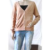 【H&M】歐美時尚V領棉質針織外套(膚)