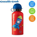 【美國Crocodile Creek】環保兒童不鏽鋼水瓶(火箭)