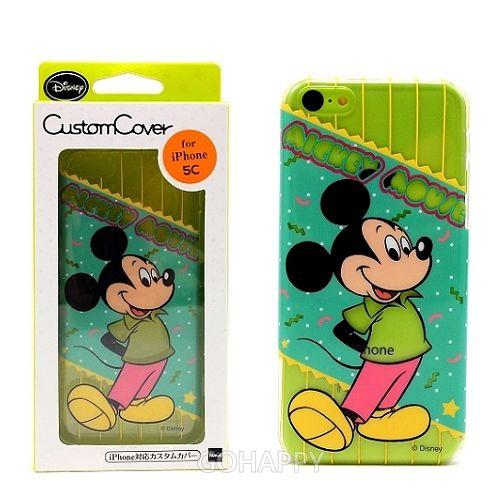 日本進口Disney iPhone 5C【花樣米奇】硬式手機背蓋