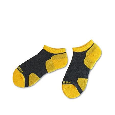 (任選)Footer健康除臭襪_KIDS兒童運動除臭短襪(T85-黃)