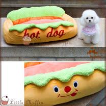 日本KOJIMA 熱狗大亨堡造型實用細纖維舒適寵物床/貓狗窩 62*40*20cm