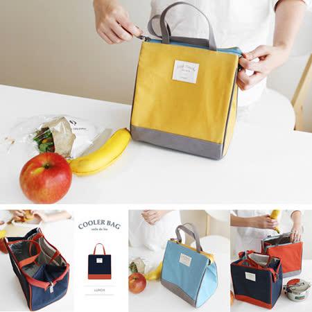 【韓國創意品牌 invite.L】S號 保冷袋 保溫袋 保鮮袋 餐盒袋 便當袋 手提包 防潑水 繽紛六色可選擇