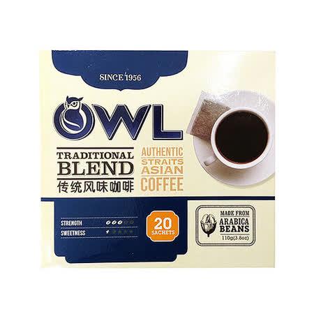 【貓頭鷹】 傳統黑咖啡-110g  5盒入組