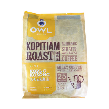【貓頭鷹】 二合一炭烤咖啡-325g  2袋入組