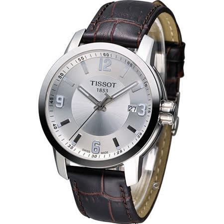 天梭 TISSOT PRC-200 防水時尚腕錶 T0554101603700