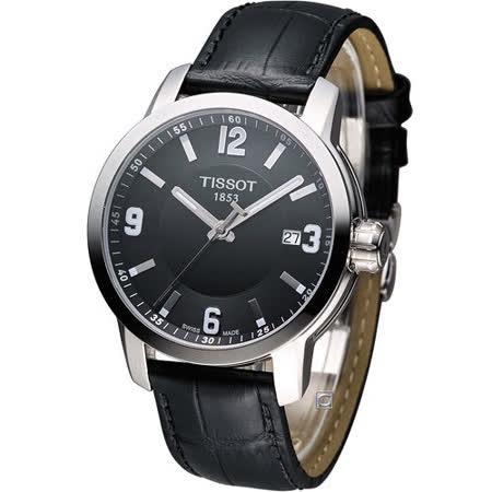 TISSOT PRC-200 防水時尚紳士錶 T0554101605700
