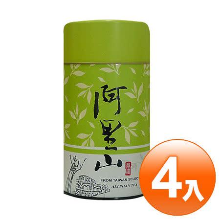 【名池茶業】阿里山手採高山茶葉4罐組-青茶/輕烘焙(山茶韻款/綠)