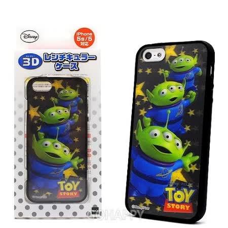 日本進口Disney i5S【3D幻影三眼怪】軟式手機背蓋