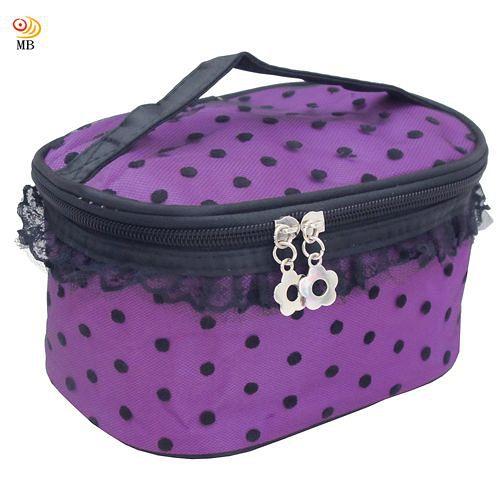 月陽 多 蕾絲邊手提包旅行包洗漱包化妝包盥洗包^(162^)
