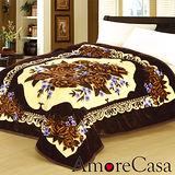 【AmoreCasa】典藏玫瑰。拉舍爾細絨保暖毛毯