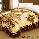 【AmoreCasa】雍雅薔薇。拉舍爾細絨保暖毛毯