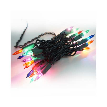 聖誕燈串-20燈彩色樹燈(鎢絲燈-浪漫四彩色)(可搭聖誕樹)