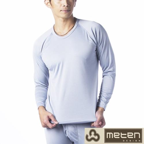 【METEN】4件組精典時尚彩色內刷毛圓領長袖上衣