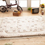 LAMINA 羊毛方塊日式床墊(米)5CM-單人