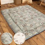 LAMINA 羊毛方塊日式床墊(灰)5CM-雙人