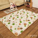 LAMINA  青白竹蓆兩用床墊(綠)5CM-單人