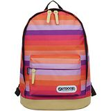 OUTDOOR 率性格紋經典後背包-紅紫條紋