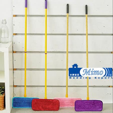 《米夢家居》水乾乾SUMEASY開纖吸水靜電拖把2件組(雙節桿+連接板*1+靜電單面布x1)台灣製造