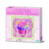 【4M】Window Mosaic Art/Pink 馬賽克拼圖–杯子蛋糕款