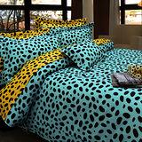 《KOSNEY 》綠戀魅力(頂級雙人AB花版活性精梳棉六件式床罩組台灣精製)
