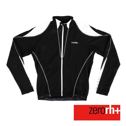 ZERORH 義大利競賽級 刷毛長袖自行車衣^(男^)~黑色款 ICU0050
