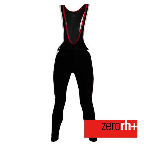 ZERORH 刷毛保暖吊帶自行車褲^(男^)~黑紅款 ICU0068