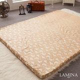 LAMINA  竹炭緹花蛋型記憶床墊(6CM)-單人