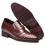 GOG高哥隱形增高鞋精品系列99910經典編織小牛皮增高6.5cm(2013-12)