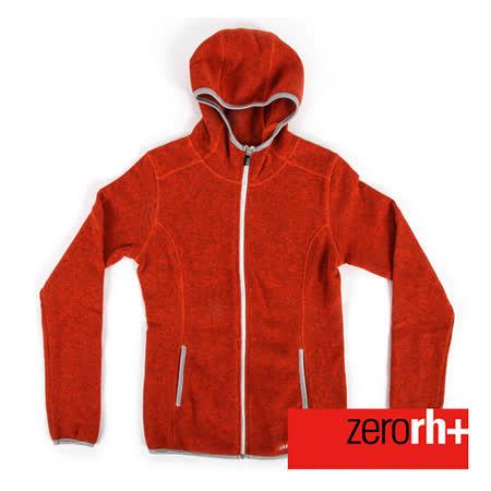 ZERORH+ 保暖刷毛時尚造型休閒外套(女款)-橘色 IND2085