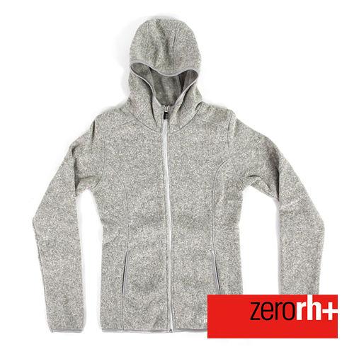 ZERORH 保暖刷毛 休閒外套^(女款^)~灰色 IND2085