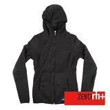 ZERORH+ 保暖刷毛時尚造型休閒外套(女款)-煤炭黑 IND2085